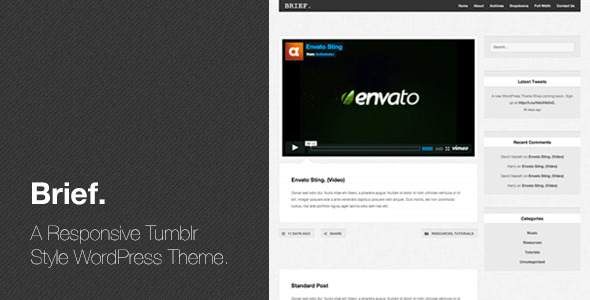 Brief - Responsive Tumblr Style WordPress Theme
