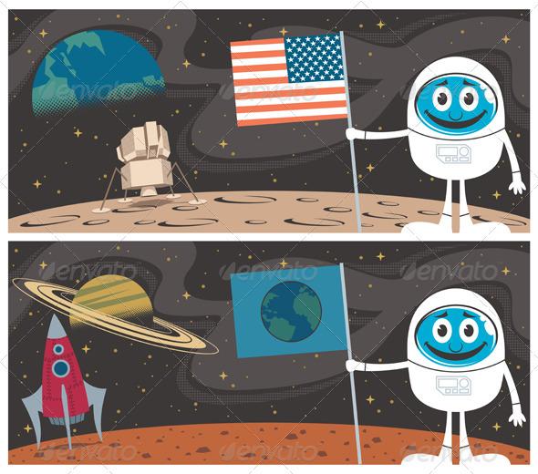 Space Scenes - Conceptual Vectors