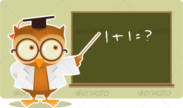 GraphicRiver Owl teaching math 116580