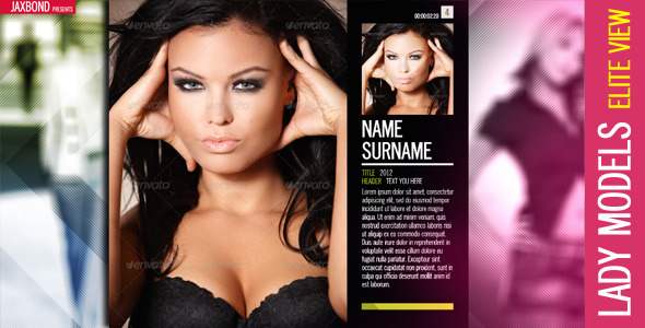 After Effects Project - VideoHive Lady Models 3300647