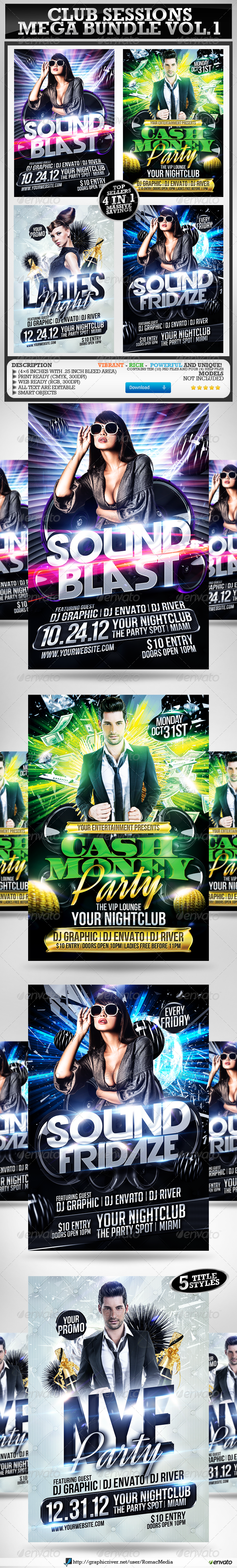 Club Sessions l Mega Bundle Vol.1 - Clubs & Parties Events