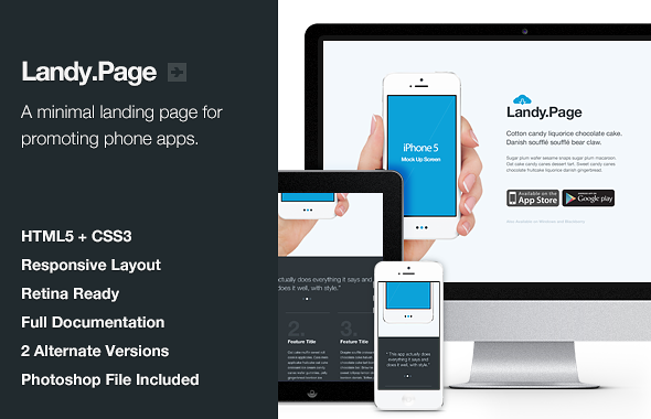 ThemeForest Landy.Page Responsive Retina Landing Page 3300709