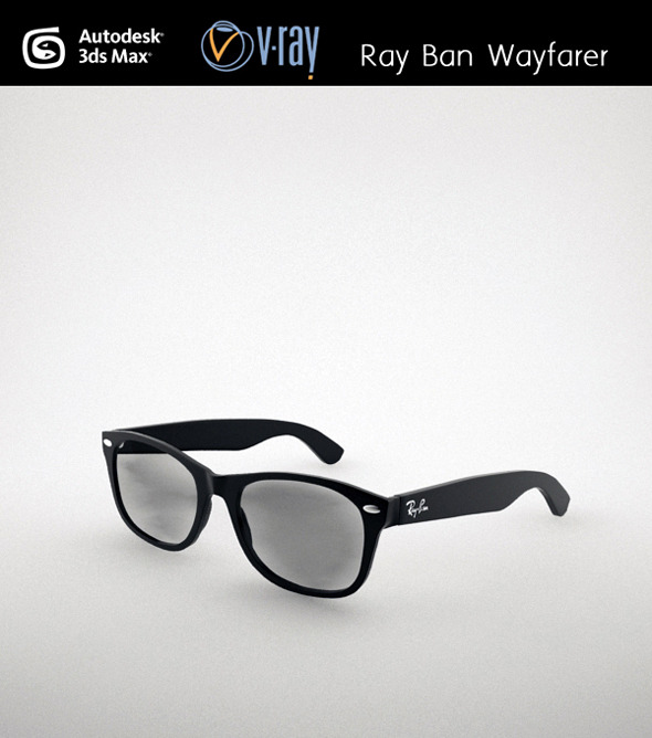 Ray Ban Wayfarer - 3DOcean Item for Sale