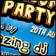 Comic Styled Party Flyer - GraphicRiver Item for Sale
