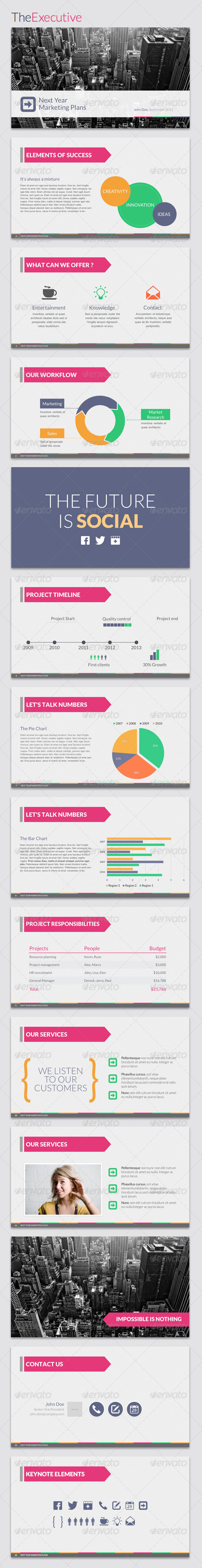GraphicRiver TheExecutive Powerpoint Template 3302125