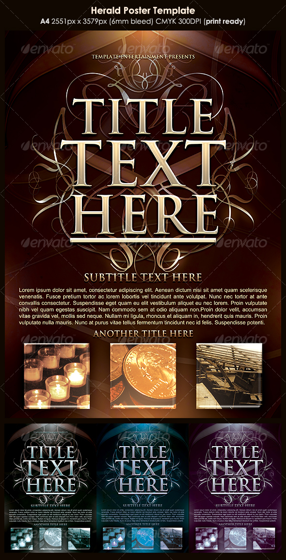 GraphicRiver Herald Poster Template 116643