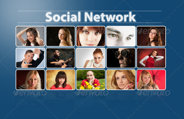 Social network concept - Stock Photo - Images