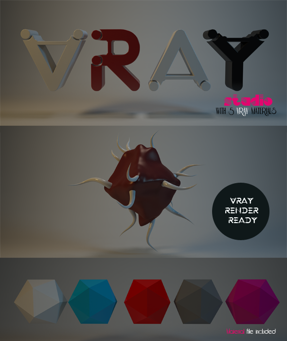 Vray Studio And Materials - 3DOcean Item for Sale