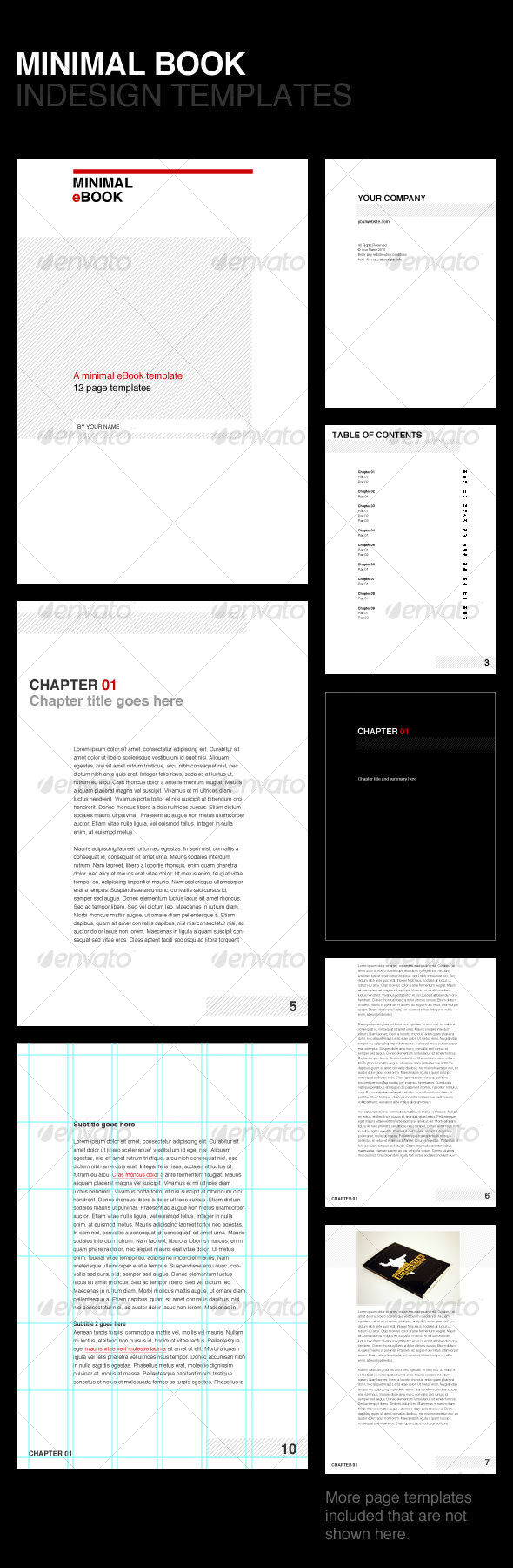 Minimal eBook Template - Miscellaneous Print Templates