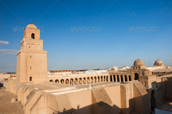 Great Mosque of Kairouan - Stock Photo - Images