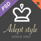 Adept Style Business PSD Template - ThemeForest Item for Sale