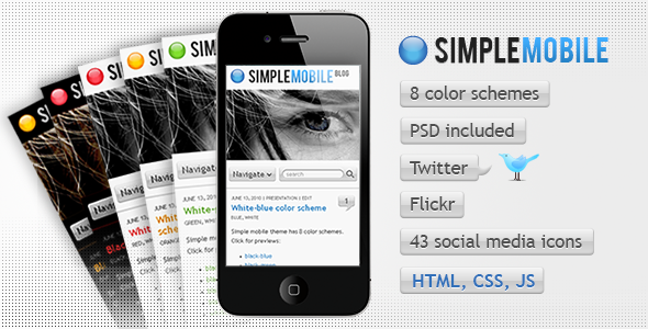 Simple Mobile template - Mobile Site Templates