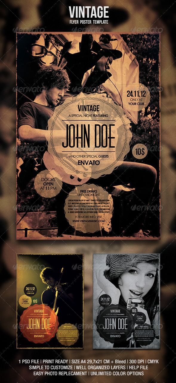 GraphicRiver Vintage Flyer Poster 3303104