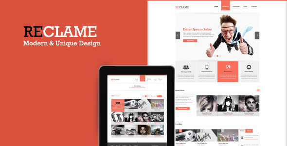 ThemeForest Reclame PSD Template 3201275