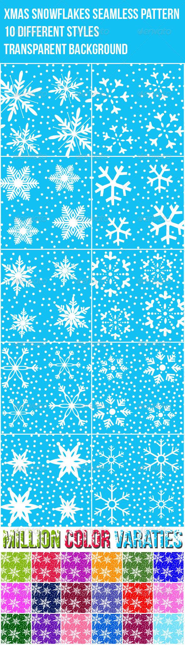 GraphicRiver Xmas Snowflakes Seamless Pattern 3303324