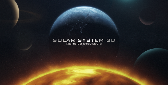 After Effects Project - VideoHive Earth 3D and Solar System 3303756