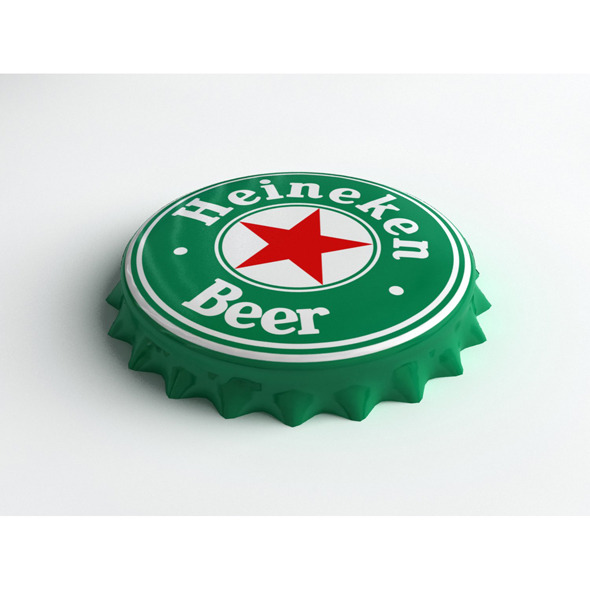 Heineken Bottle Tin Cap - 3DOcean Item for Sale