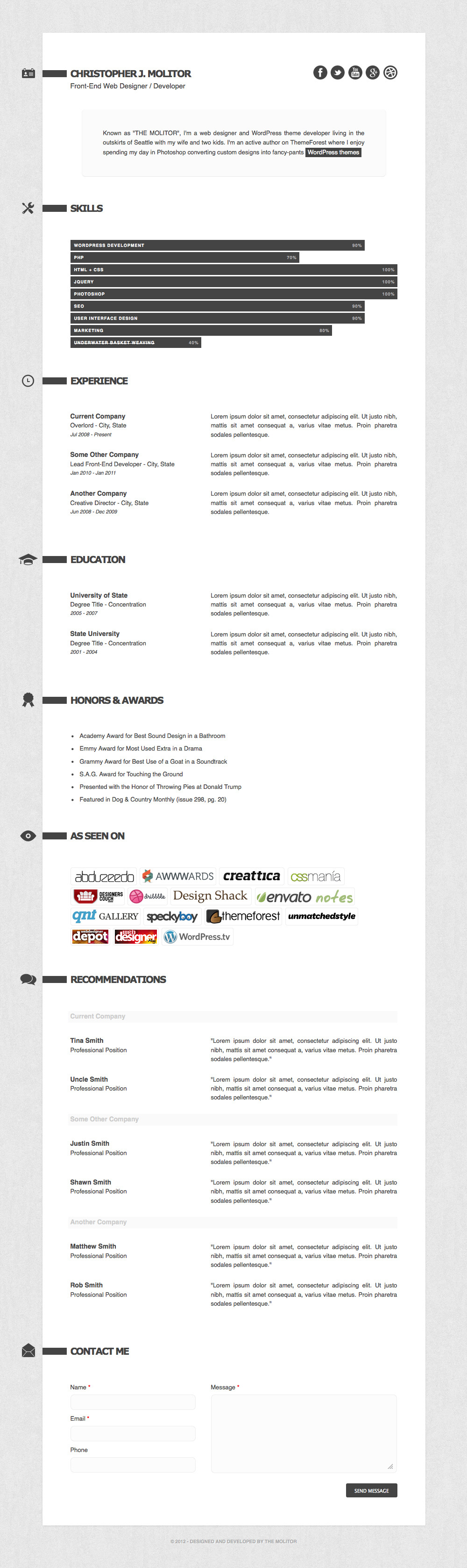 the applicant resume cv html template by themolitor themeforest preview 1 preview jpg