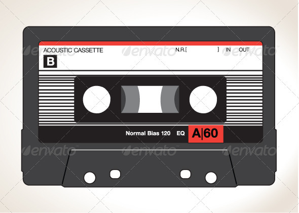 GraphicRiver Detailed Vector Cassette Tape 3267644