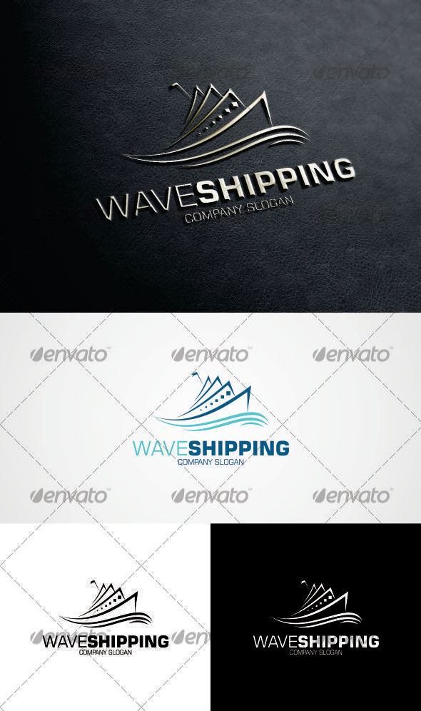 GraphicRiver Wave Shipping Logo 3304717