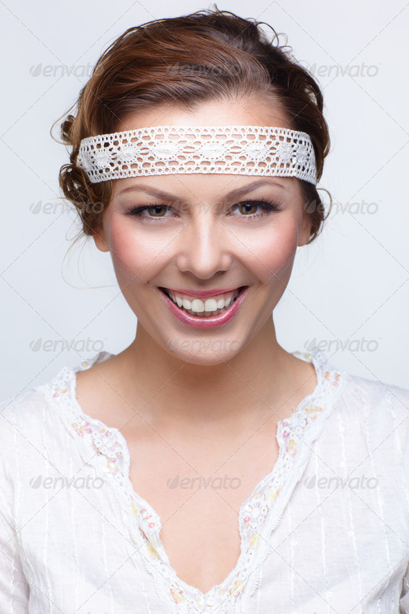 russian folk girl - Stock Photo - Images