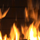 Fire Is Burning Branches               (Stock Footage)