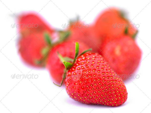 Group of Strawberrys - Stock Photo - Images