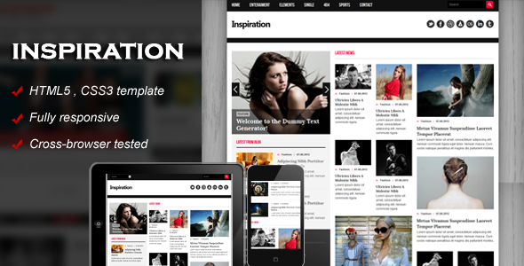 Inspiration - Fully responsive HTML5 template - Creative Site Templates