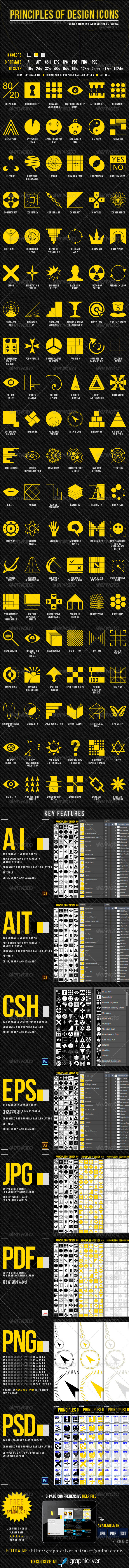 Principles of Design Icons - Web Icons