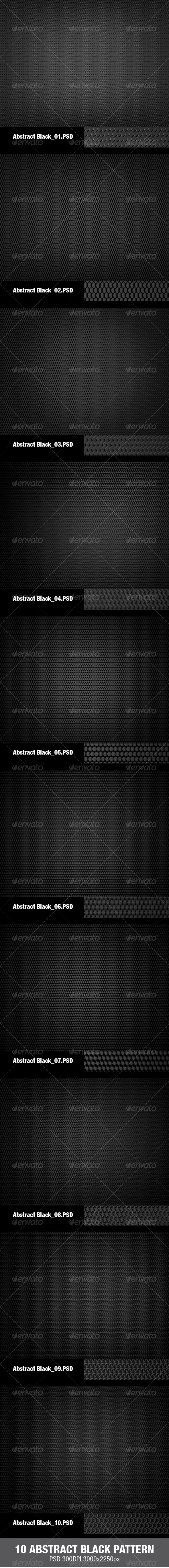 GraphicRiver 10 Abstract Black Pattern 3305236