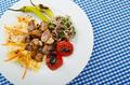 Meat cuisine - kebab served in plate - PhotoDune Item for Sale