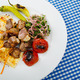 Meat cuisine - kebab served in plate - PhotoDune Item for Sale