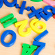 Children letters and digits on the table - PhotoDune Item for Sale