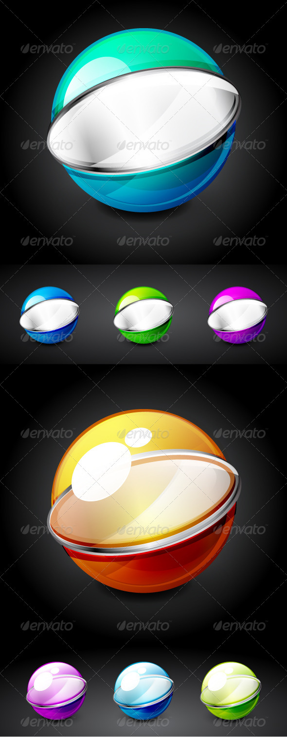 Glossy Vector Technology Spheres