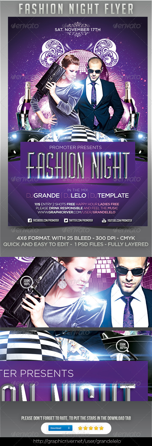 Fashion Night Flyer - Clubs & Parties Events