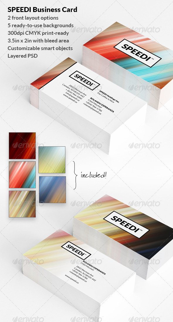 GraphicRiver Speedi Business Card 3305936