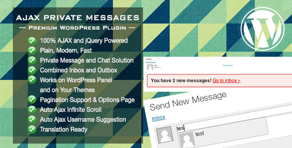 CodeCanyon Ajax Private Messages WordPress Plugin 3296422