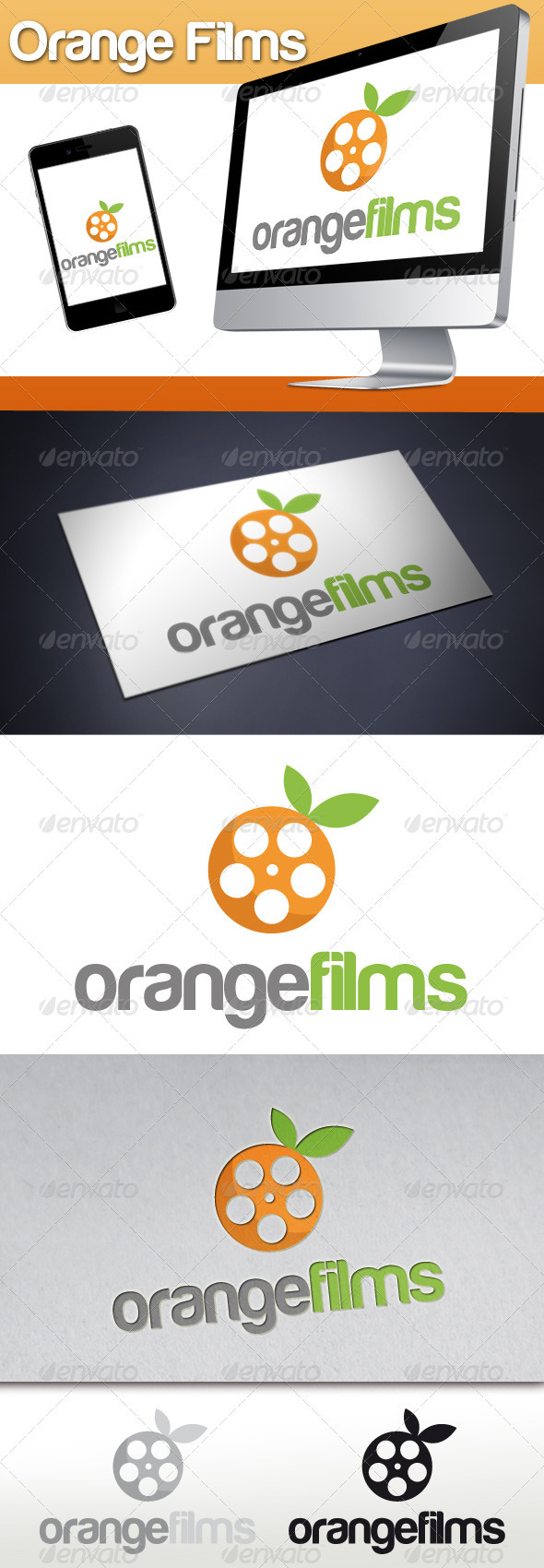 GraphicRiver Orange Films Logo 3306672