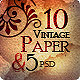 10 Cool Vintage Paper Texture - GraphicRiver Item for Sale