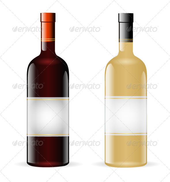 GraphicRiver Wine Bottles 3306983