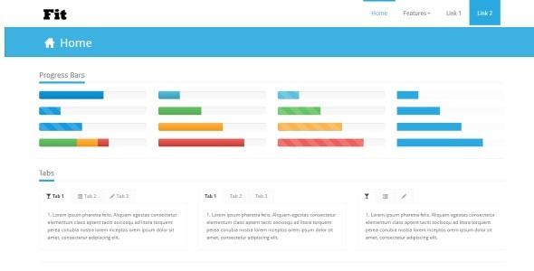 FIT - Bootstrap Responsive Skin