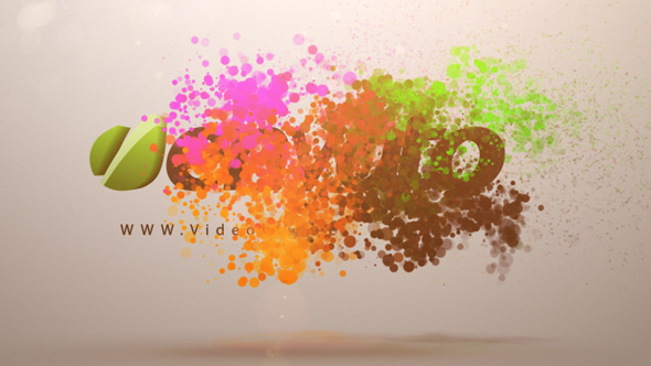 Colorful Particles Logo Animation
