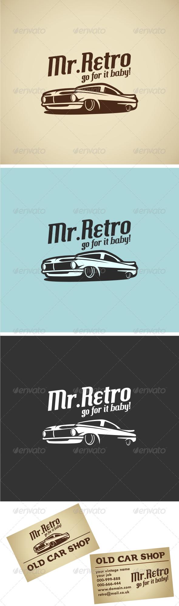 Retro Car V.1 Logo Template - Objects Logo Templates