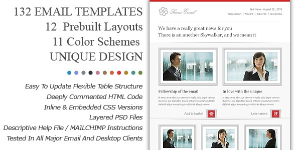 ThemeForest Success Premium Email Newsletter Templates Marketing Email Templates 3308405