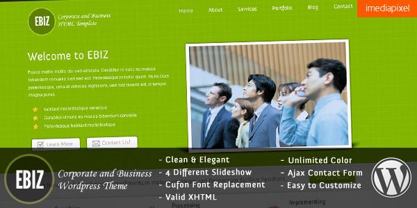 EBIZ - Corporate and Business Wordpress Theme