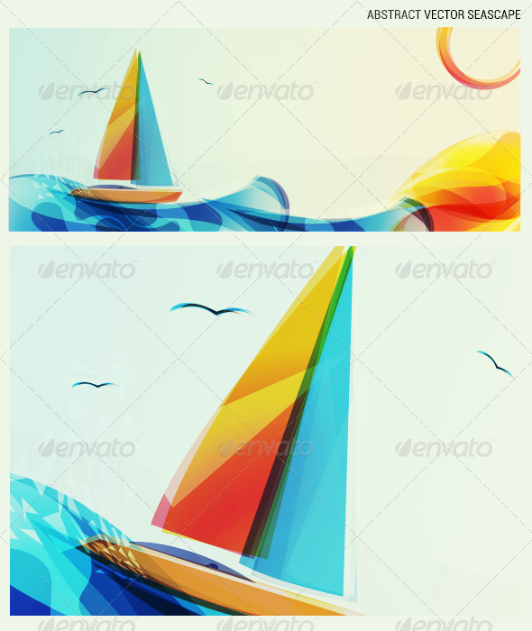 GraphicRiver Seascape Abstract 3308741