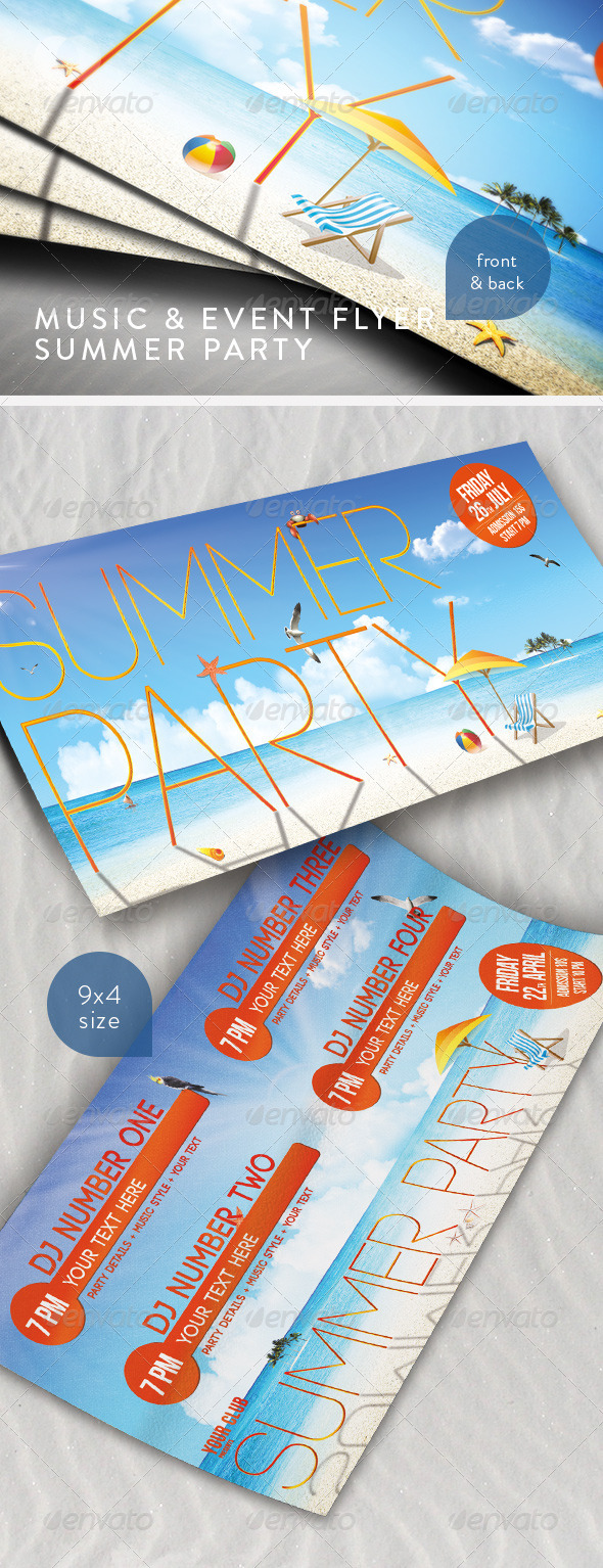 GraphicRiver Music & Event Flyer Summer Party 239496