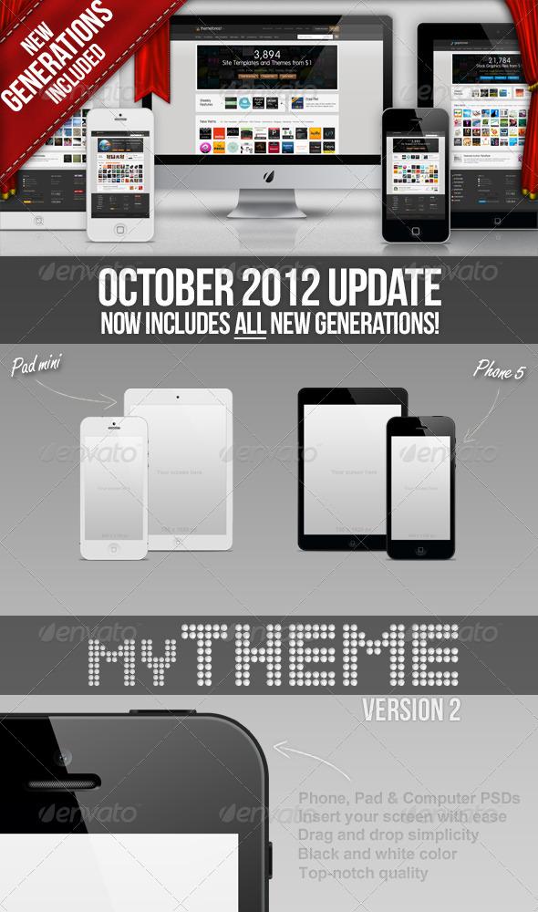 GraphicRiver myTheme Phone Pad & Computer template 247635