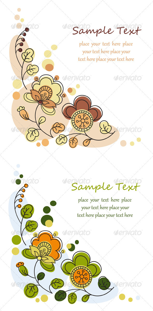 GraphicRiver Floral Decorative Background Set 3309167