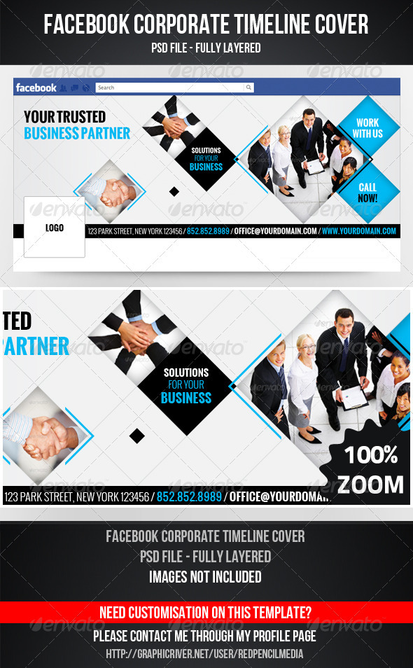 GraphicRiver FB Corporate Timeline Cover 3288257